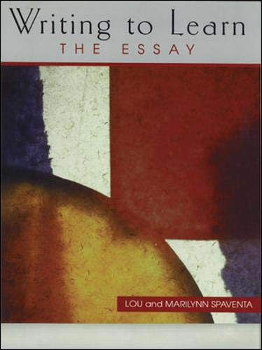 9780071189552: Writing to Learn: The Essay