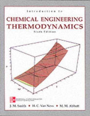 9780071189576: Introduction to Chemical Engineering Thermodynamics