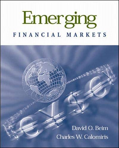 9780071189972: Emerging Financial Markets