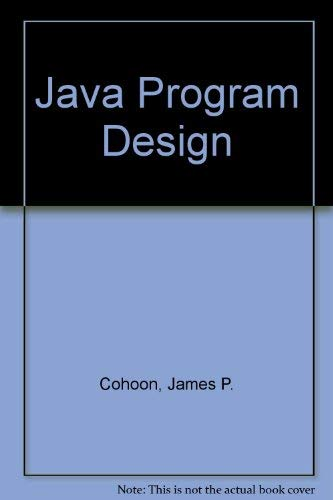 9780071192552: Java Program Design