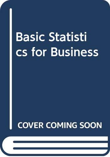 9780071198509: Basic Statistics for Business