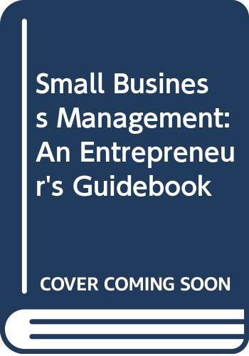 9780071198578: Small Business Management: An Entrepreneur's Guidebook