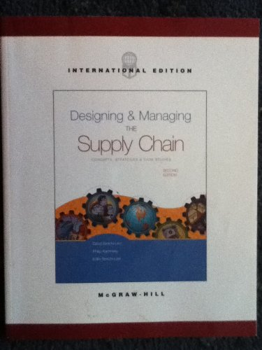 9780071198967: Designing and Managing the Supply Chain: Concepts Strategies and Case Studies (International Edition) Edition: second
