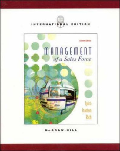 9780071198981: Management of a Sales Force