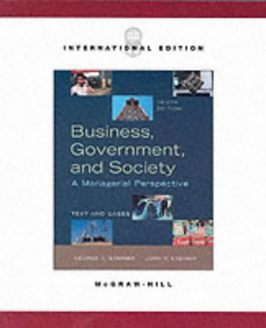 9780071198998: Business, Government, and Society: A Managerial Perspective