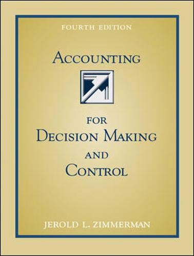 9780071199155: Accounting for Decision Making and Control