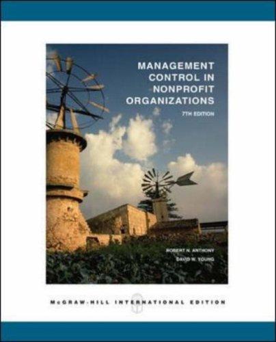 9780071199223: Management Control in Nonprofit Organizations