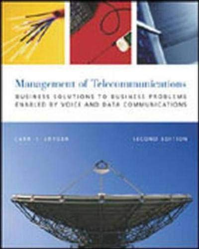 9780071199285: The Management of Telecommunications: Business Solutions to Business Problems Enabled by Voice and Data Commumnications