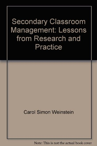 9780071199575: Secondary Classroom Management: Lessons from Research and Practice