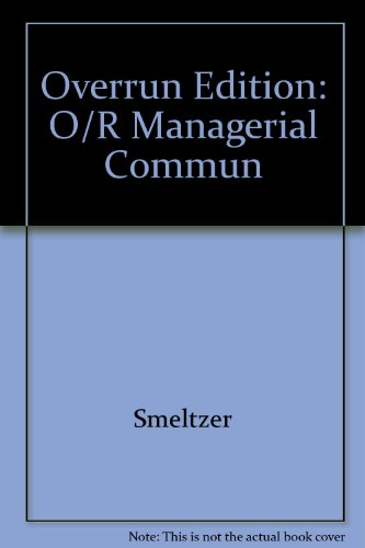 9780071199858: Overrun Edition: O/R Managerial Commun