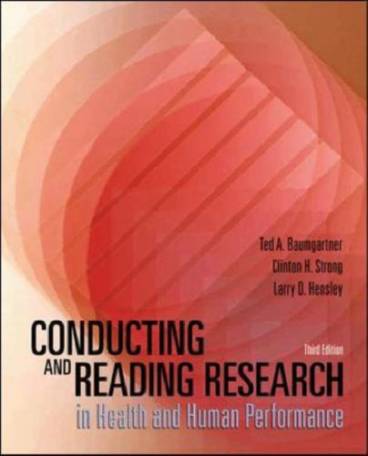 9780071199926: Conducting and Reading Research in Health and Human Performance