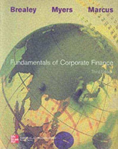 9780071201957: Fundamentals Of Corporate Finance +insert Card 3/e