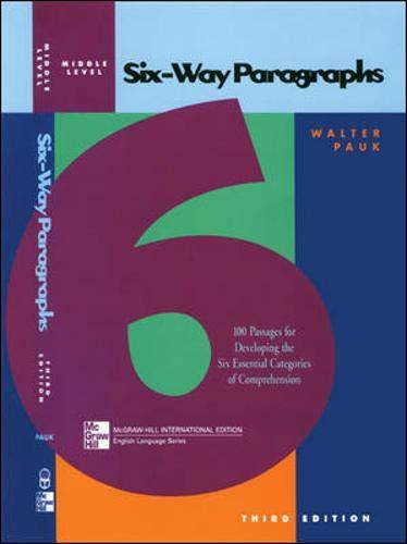 9780071203722: SIX-WAY PARAGRAPHS INTERMEDIATE (Jamestown Education Six-way Paragraphs)