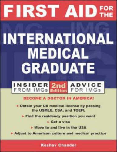 9780071212106: First Aid for the International Medical Graduate (First Aid Series)