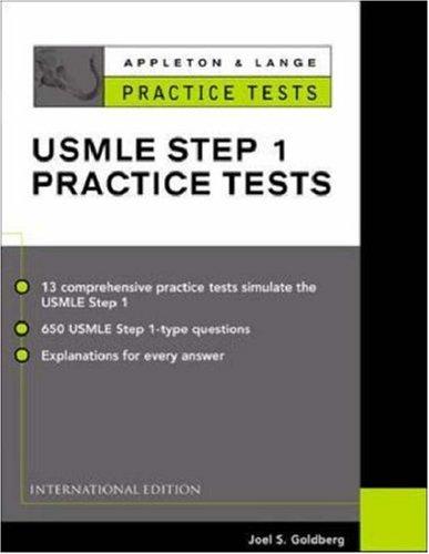 9780071212144: Appleton & Lange Practice Tests for the Usmle Step 1 Practice Tests (Appleton & Lange Review)