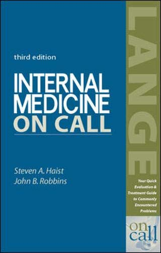 9780071212359: Internal Medicine on Call (A Lange Medical Book)