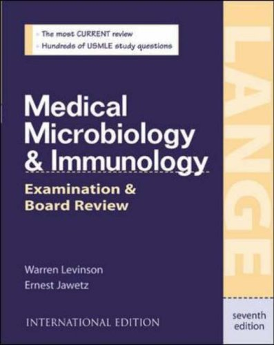 9780071212366: Medical Microbiology and Immunology: International Student Edition: Examination and Board Review (Lange Medical Books)