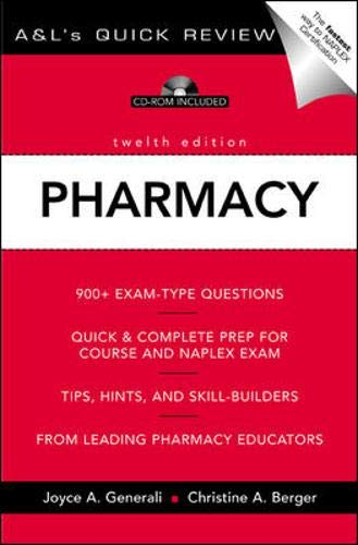 9780071212410: Pharmacy: 1000 Questions & Answers (A & L's Quick Review)