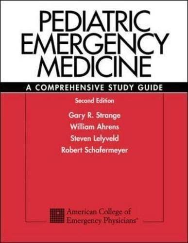 9780071212632: Pediatric Emergency Medicine: A Comprehensive Study Guide