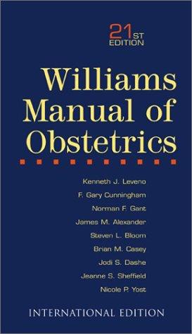 9780071212717: Williams Manual of Obstetrics
