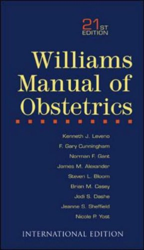 9780071212717: Williams Manual of Obstetrics