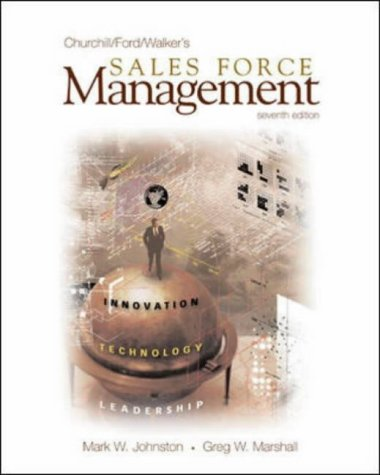 9780071213219: Sales Force Management: With Excel Spreadsheets