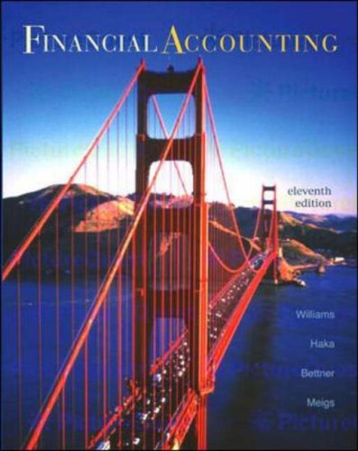 Financial Accounting: With Net Tutor and Powerweb (0071213295) by Jan Williams; Mark Bettner; Robert F. Meigs; Sue Haka; Walter B. Meigs