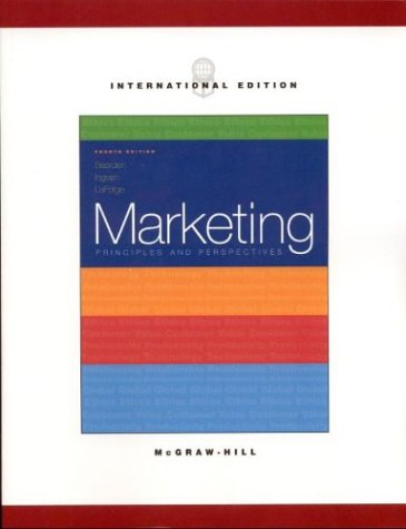 9780071214308: Marketing: Principles & Perspectives (Mcgraw-Hill/Irwin Series in Marketing)