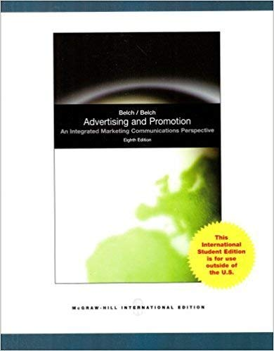 9780071214384: Advertising and Promotion: An Integrated Marketing Communications Perspective (The Mcgraw-Hill/Irwin