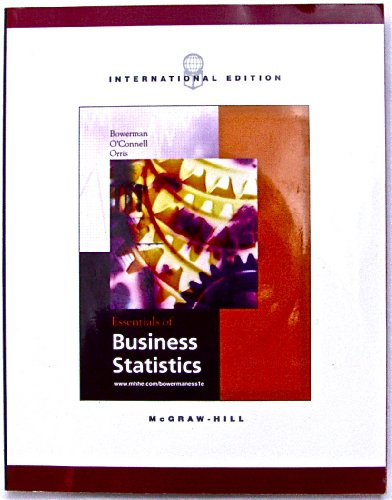 9780071214407: Essentials of Business Statistics (The Mcgraw-Hill/Irwin Series Operations and Decision Sciences)