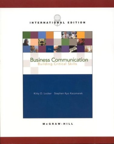 9780071214841: Business Communication: Building Critical Skills