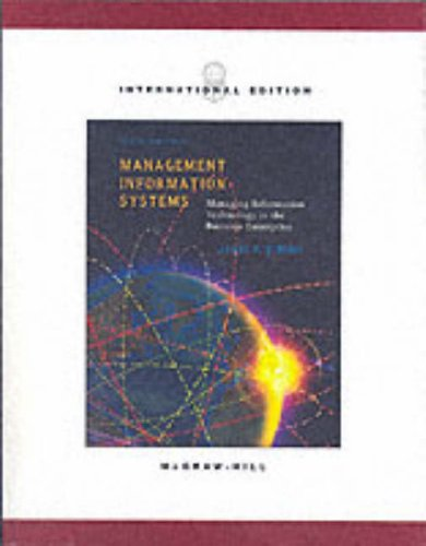 9780071214988: Management Information Systems: Managing Information Technology in the E-business Enterprise