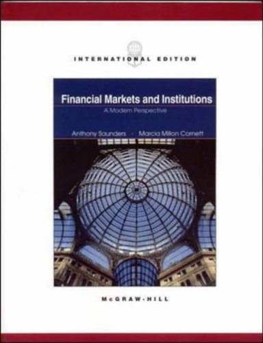 9780071215091: Financial Markets and Institutions: A Modern Perspective (The Mcgraw-Hill/Irwin Series in Finance, Insurance, and Real Estate)