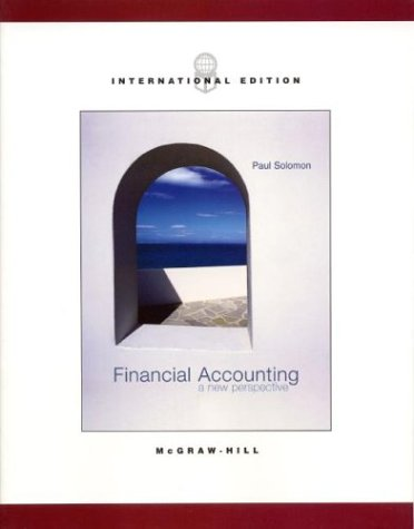9780071215121: Financial Accounting: A New Perspective