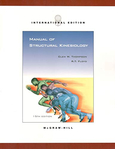 9780071215152: Manual of Structural Kinesiology