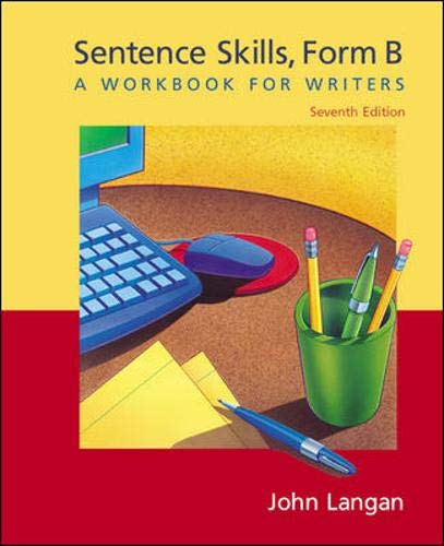 9780071215435: Sentence Skills: A Workbook for Writers, Form B