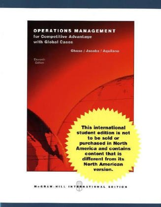 9780071215558: Operations Management for Competitive Advantage (The Mcgraw-Hill/Irwin Series Operations and Decision Sciences)