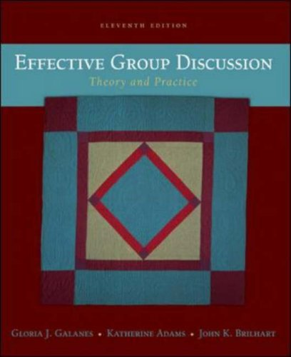 9780071216029: Effective Group Discussion: Theory and Practice