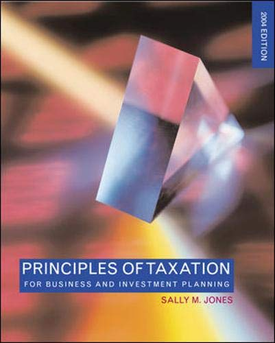 9780071216142: Principles of Taxation for Business and Investment Planning