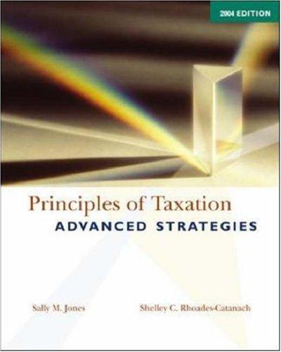 9780071216159: Principles of Taxation 2004: Advanced Strategies