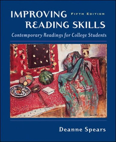 9780071216340: Improving Reading Skills: Contemporary Readings for College Students