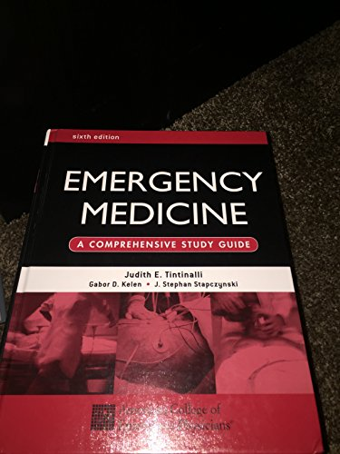 9780071219303: Emergency Medicine: A Comprehensive Study Guide