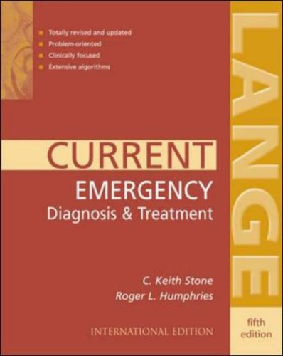 9780071219754: Current Emergency Diagnosis and Treatment (Lange Current Series)