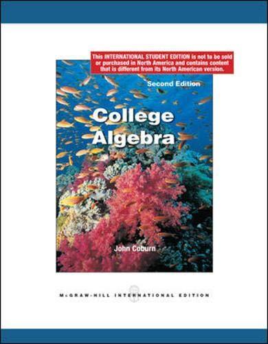 9780071220033: College Algebra