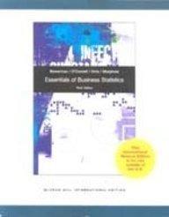 9780071220262: Essentials of Business Statistics.