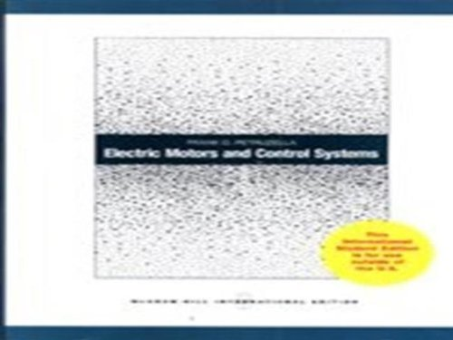 9780071220330: Electric Motors and Control Systems