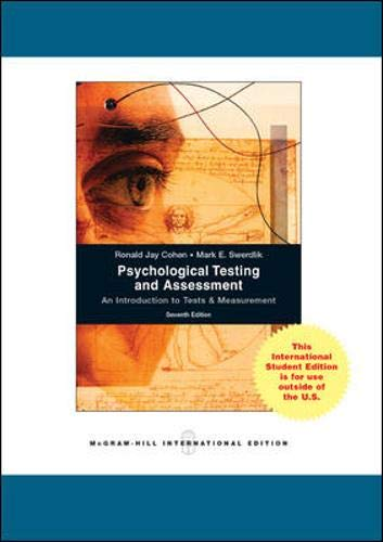 9780071220378: Psychological Testing and Assessment: An Introduction to Tests and Measurement.
