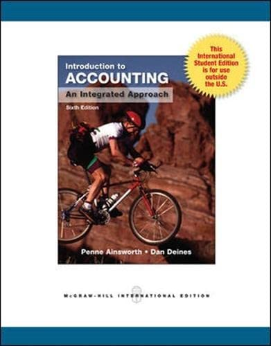 9780071220583: Introduction to Accounting: An Integrated Approach, 6th Edition (College Ie Overruns)