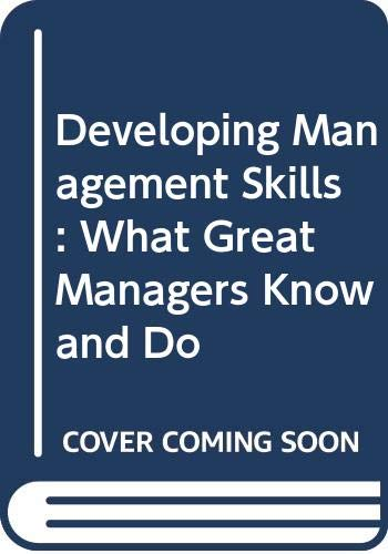 9780071220613: Developing Management Skills: What Great Managers Know and Do