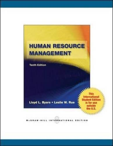 9780071220668: Human Resource Management (Int'l Ed)